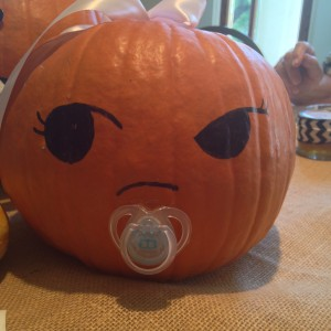 Baby Shower Pumpkin