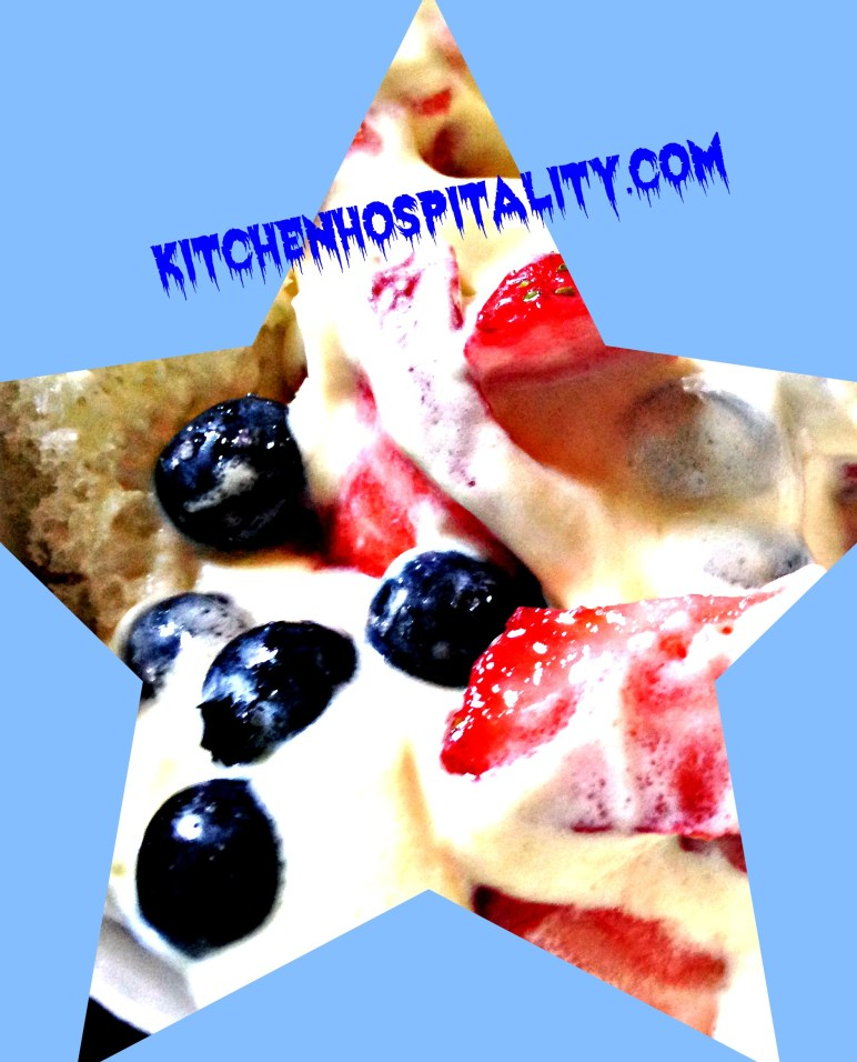 Red-White-Blue Fruit Pudding