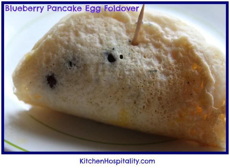 Blueberry Pancake, Egg, & Sausage Foldover