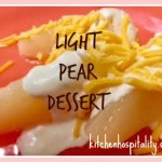 A Light Pear Dessert for One