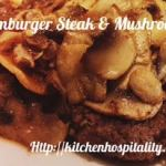 Hamburger Steak with Mushrooms Breakfast for Two