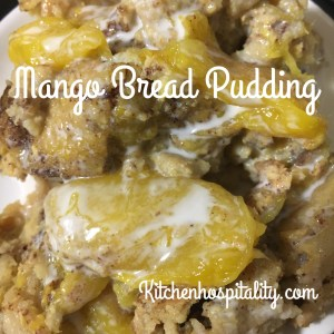 Amazing Mango Bread Pudding Slow Cooker Dessert for Two
