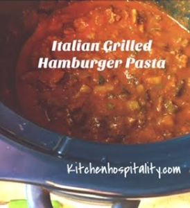 Italian Spinach-Grilled Hamburger Chili & Open-Faced Sandwiches for Two