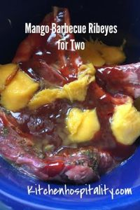 Mango Barbecue Ribeye Slow Cooker Dinner for Two
