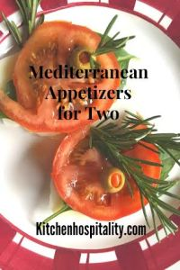 Caprese Appetizers for Two – A Mediterranean Herb & Cheese Snack