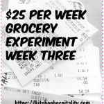 Grocery Budget $25 Week Three Challenge