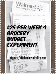 Grocery Budget Challenge of $25 Per Week for a Family of Two