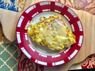 Onion & Cheese Egg Pizza