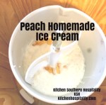 Peach Homemade Ice Cream
