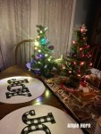 Christmasy Tablescape Decorating with Grandchildren