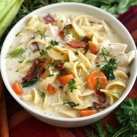 Slow Cooker Crack Chicken Noodle Soup