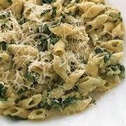 Pasta met gorgonzola en spinazie
