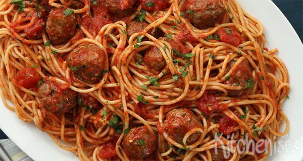 spaghetti balletjes tomatensaus
