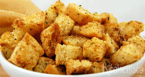 Oud Brood In Huis Maak Croutons Kitchenista
