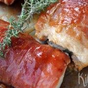 Kiprolletje met rauwe ham