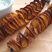 Aardappelspiralen met dip
