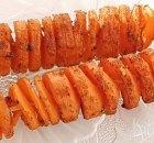 Geroosterde wortelspiralen