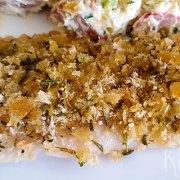 Heekfilet met een rozemarijn en citroen korstje