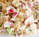Rode aardappelsalade met mierikswortel en radijs
