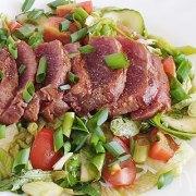 Gegrilde biefstuk salade met Oosterse smaken