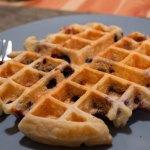 Vanilla Blueberry Waffles