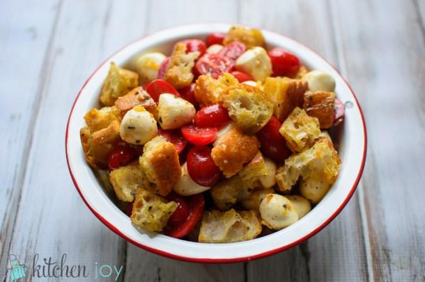 Fresh Tomato and Mozzarella Panzanella