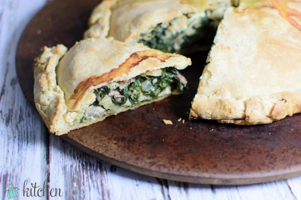 Erbazzone (Savory Spinach and Mushroom Pie)