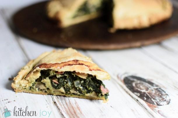 Erbazzone (Savory Spinach and Mushroom Pie) (22)