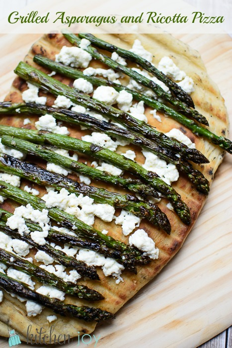 Grilled Asparagus And Ricotta Pizza Kitchen Joy