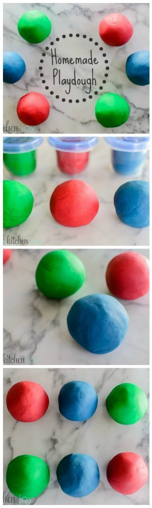 Homemade Playdough - Kitchen Joy