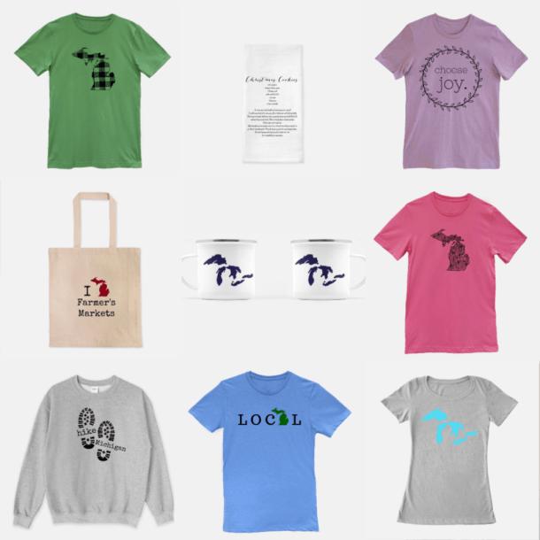 Unique Michigan Mitten Gifts, Shirts, Mugs, Bags, Pillows