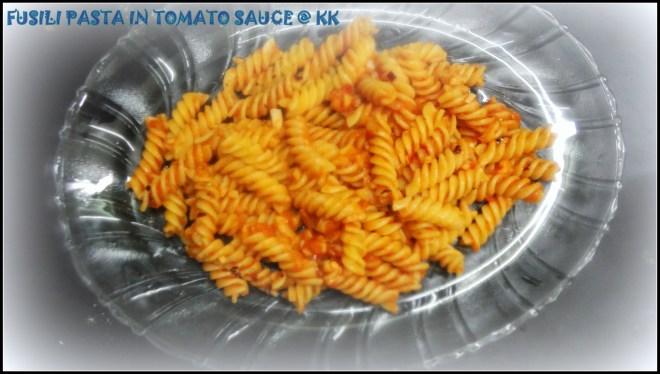 fusili in tomato sauce