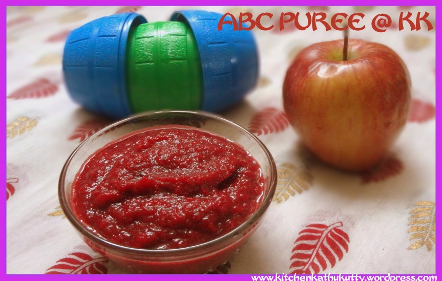 ABC Puree/Apple Beetroot Carrot Puree for babies