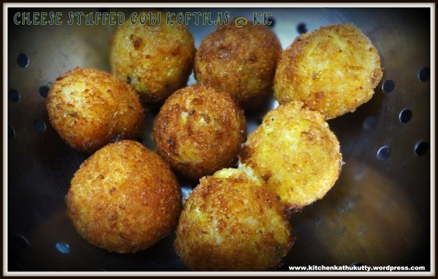 cheese stuffed gobi koftha