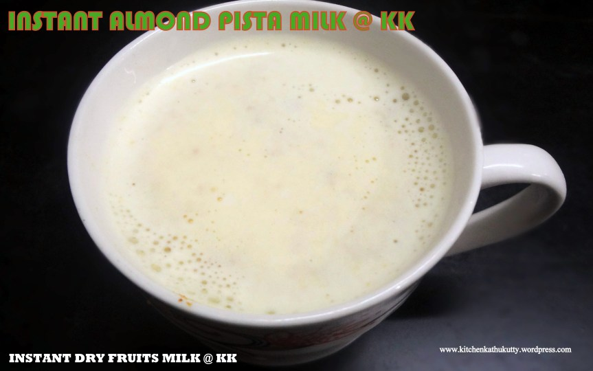 Instant dry fruit milk/Almond Pista Milk