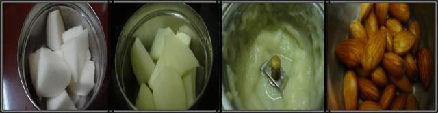 Almond turnip soup