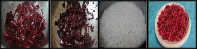 beet root rice