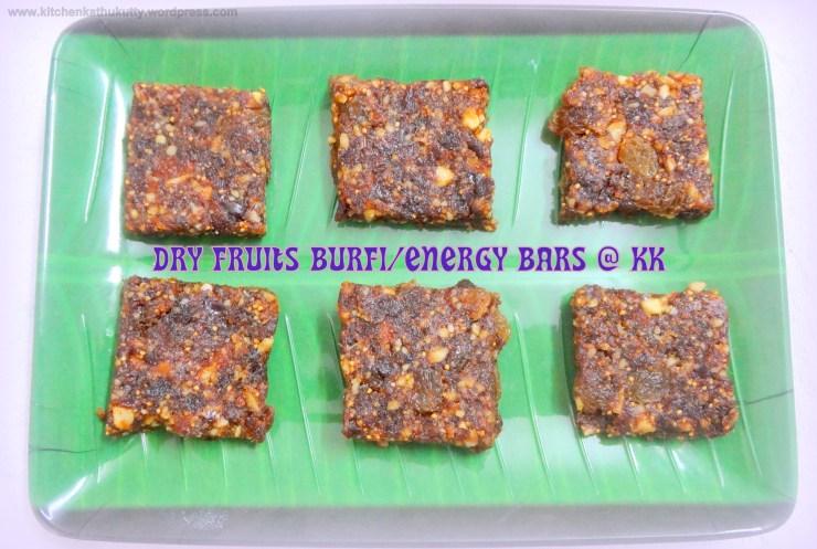 dry fruits burfi