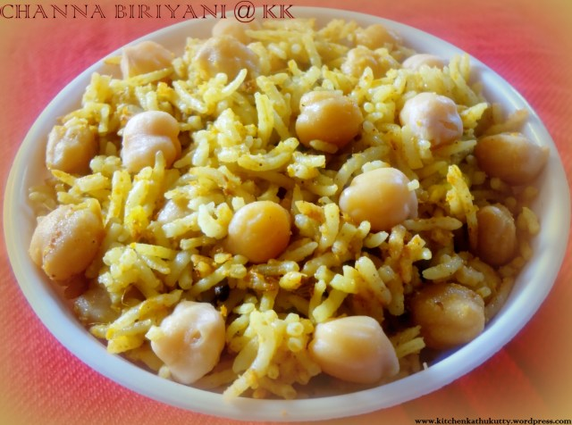 CHICK PEAS PULAO OR CHANNA BIRIYANI