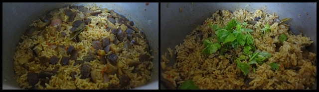 vangi bath or brinjal rice