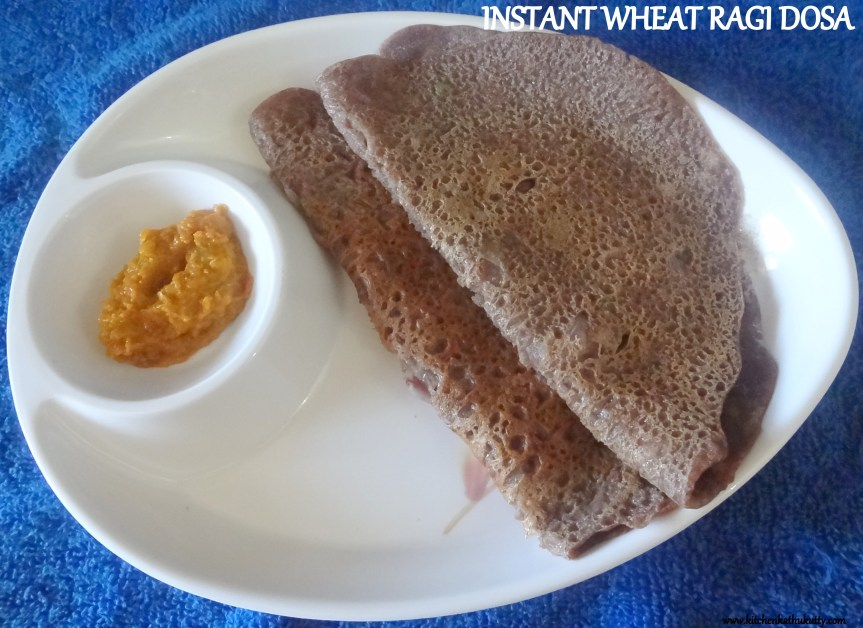 instant wheat ragi dosa