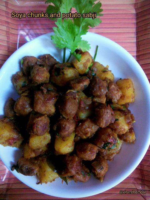 soya chunks potato sabji