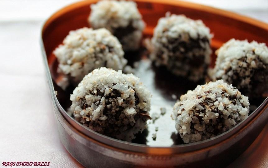 Ragi Choco Balls/Millet Choco Balls