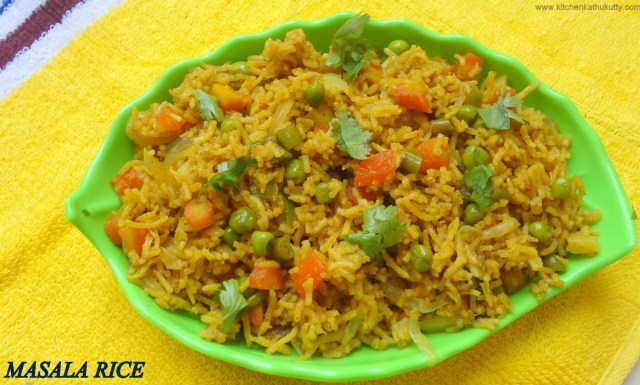 Masala Rice|Masala Bath