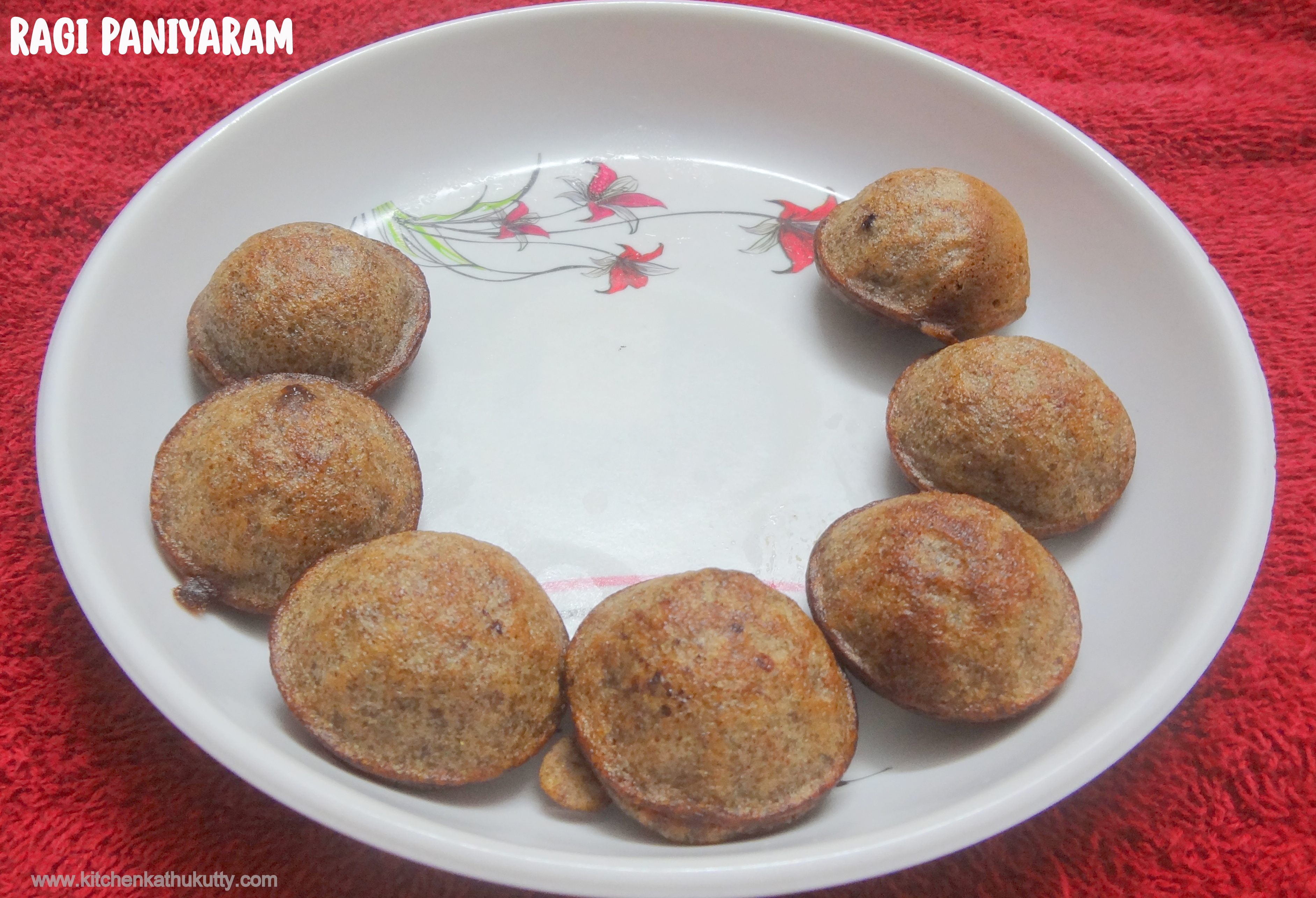 Ragi Paniyaram | Finger Millet Kuzhi Paniyaram for Babies ,Toddlers and Kids