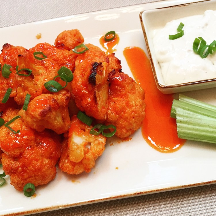 "Hot & Honey Buffalo Cauliflower ""Wings"""