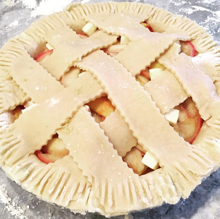 Sweet & Salty Bourbon Peach Pie