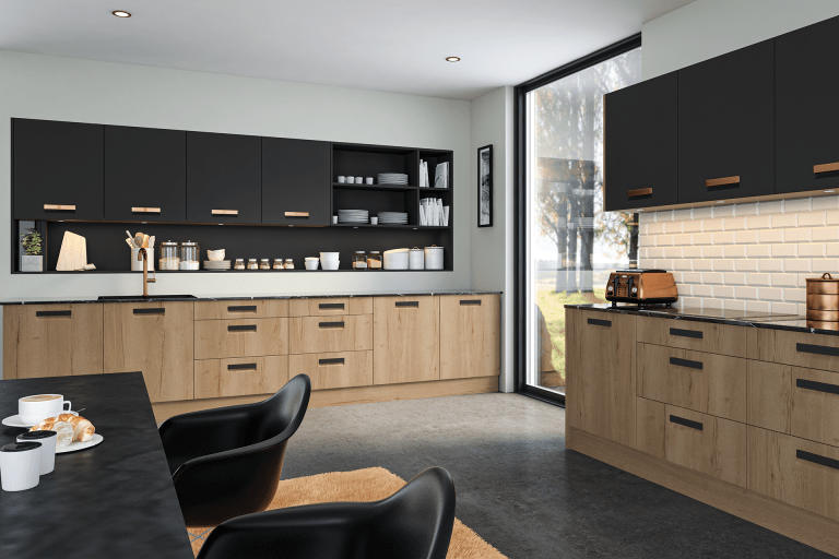 BELLA LAZIO HALIFAX NATURAL OAK MATT GRAPHITE 2
