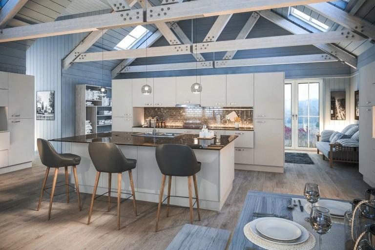 Firbeck Supermatt Light Grey Kitchen scaled