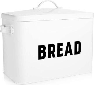 White Metal Bread Box